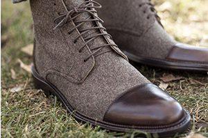 کفش کلاسیک با رویه پارچه ای